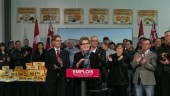 Ontario Premier and Minister of Agriculture Kathleen Wynne announces a $1-million investment in St. Albert Cheese Co-operative's new manufacturing facility.