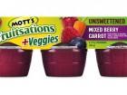 Mott's Fruitsations + Veggies Mixed Berry Carrot