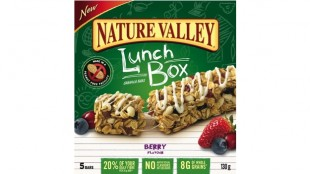Nature Valley's peanut free Berry granola bar.