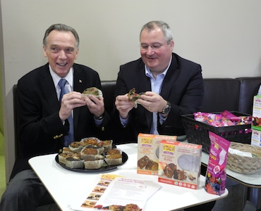 (Left to right) MP Peter Kent with U-B-Living-Smart co-founder Tim Sinclair.