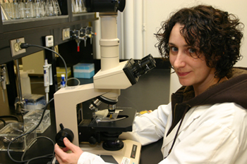 Dr. Krista Power, AAFC research scientist at the Guelph Research and Development Centre
