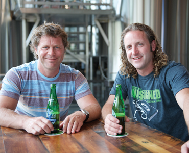 Steam Whistle Brewing co-founders Greg Taylor (left) and Cam Heaps.