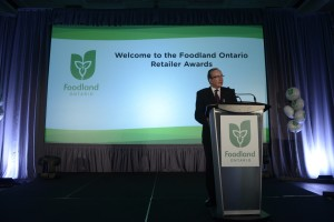Jeff Leal, Ontario's Minister of Agriculture, Food and Rural Affairs, at the awards presentation
