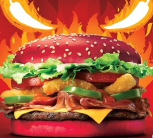 Burger King unveils the Angriest Whopper with a flavour-infused red bun (CNW Group/Burger King Canada)
