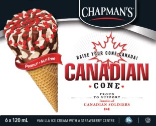 Beat the Heat with a Canadian Cone this Canada Day, in Support of Military Families #RaiseYourCone (CNW Group/Canadian Hero Fund)