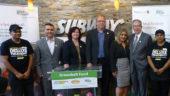 David Capobianco (Burnac Produce), Jonna Thomas (Subway), Burkhard Mausberg (CEO Greenbelt Fund), Neda Robati (franchise owner, Subway), Jeff Leal (OMAFRA)