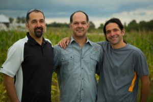 Darren, Ryan and Jarrod Goldin (photo courtesy of Entomo Farms)