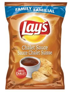Lay's Chalet Sauce potato chips, available only at participating Swiss Chalet restaurants while quantities last. Available in 255g bags and 40g bags. (CNW Group/PepsiCo Canada)