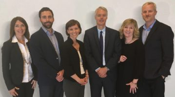 From left to right: Sue Coueslan, Paul-Thomas Lacroix, Karen Wight, David Gauthier, Shelley King (CEO), and Stephen Ball. (CNW Group/Natural Products Canada)