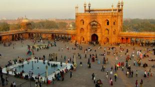 Courtyard of Jama Masjid, Delhi, India