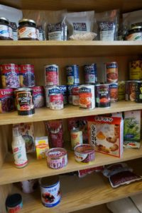A display at HDC's Hensall location shows the diversity of the products made with beans from the facility. (Photo source: Hensall District Co-op, AgInnovation Ontario)