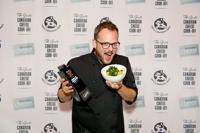 Chef Andrew Farrell and his winning dish, Crispy Greens Mac & Cheese.