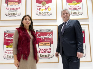 Campbell Canada president Ana Dominguez and Arthur Potts, Parliamentary Assistant to the Minister of Agriculture, Food and Rural Affairs celebrate Campbell Canada's 85th anniversary