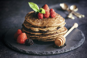 Buckwheat pancakes with fruit