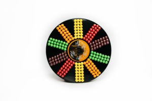 A Skittles-covered vinyl record from the Arkells