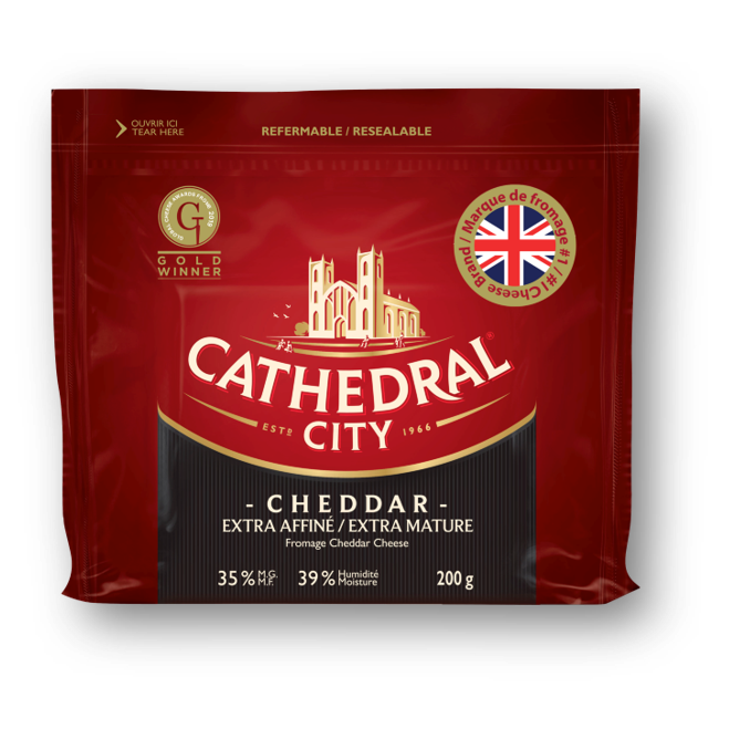 Cathedral City cheeses now available in Canada