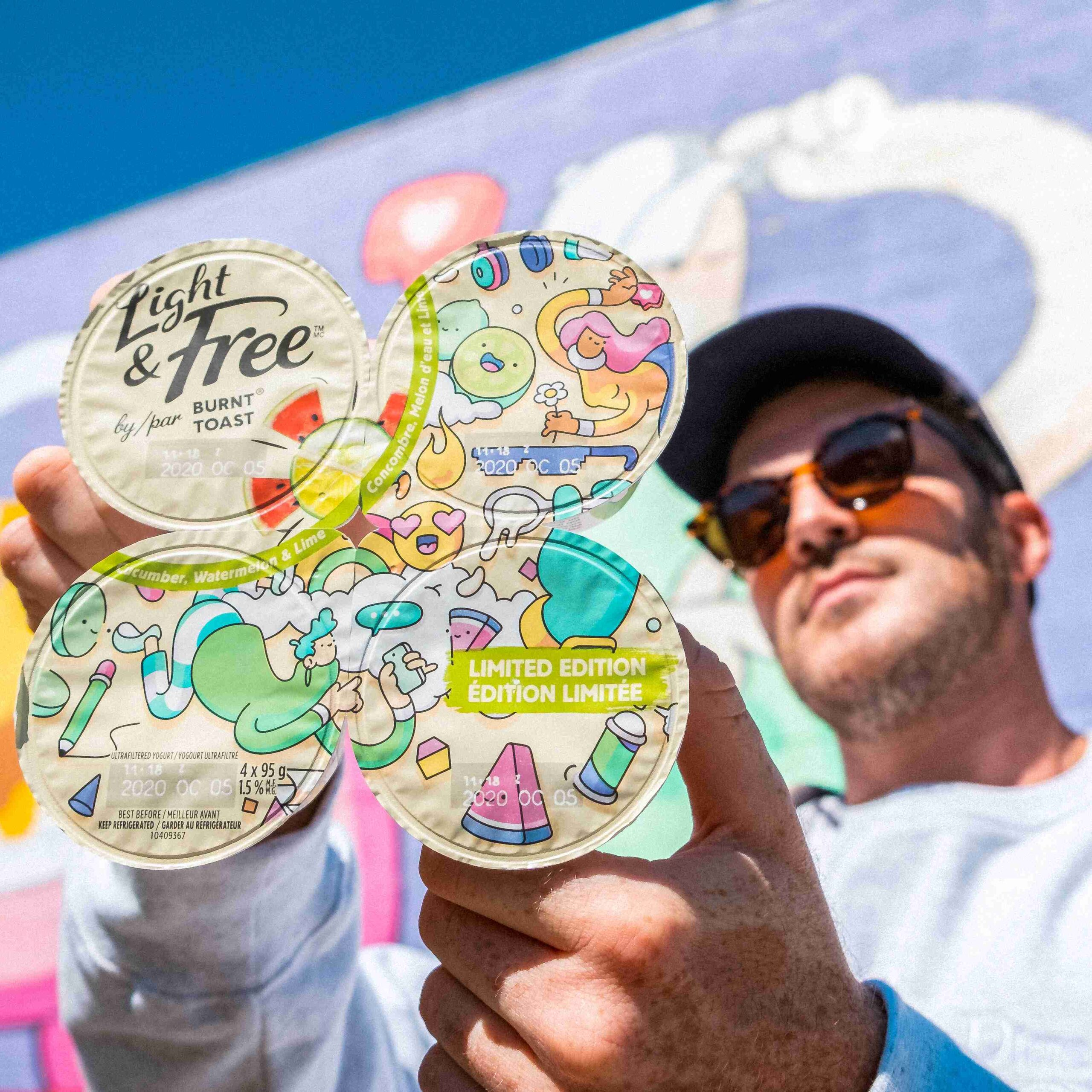 Danone partners with renowned Canadian street artist with a mural and limited-edition packaging
